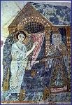 Ο ευαγγελισμός του Ζαχαρία - Μικρογραφία από αρχαίο αρμενικό χειρόγραφο