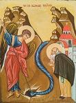 Το θαύμα του Αρχαγγέλου Μιχαήλ στις Χωναίς (ή Κολασσαίς) - α' μισό 12ου αι. μ.Χ. - Λυδία Γουριώτη© (http://lydiagourioti-iconography.blogspot.com)