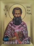 Άγιος Βησσαρίων Αρχιεπίσκοπος Λαρίσης - Λυδία Γουριώτη© (http://lydiagourioti-iconography.blogspot.com)