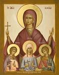 Αγία Σοφία και οι τρεις θυγατέρες της Πίστη, Ελπίδα και Αγάπη - Julia Hayes© (www.ikonographics.net)