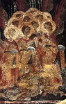 Χορός αγγέλων - Λεπτομέρεια από βυζαντινή τοιχογραφία σε εκκλησία του Μυστρά