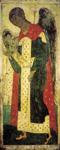 Αρχάγγελος Γαβριήλ - Αντρέι Ρουμπλιόβ, Ναός της Ανάληψης στο Βλαδιμίρ, 1408