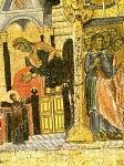Τα Eισόδια της Θεοτόκου και η Παράδοση της Θεοτόκου στον Iωσήφ - β' μισό 12ου αι. μ.Χ. - Mονή Bατοπαιδίου, Άγιον Όρος