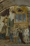 Εισόδια της Θεοτόκου - Τοιχογραφία στην πύλη της Ιεράς Μονής Χιλιανδαρίου