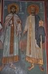 Ο Άγιος Ρωμανός ο Μελωδός και ο Άγιος Ιωσήφ ο Υμνογράφος, ναός Καπνικαρέας