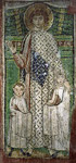 Ο Άγιος Δημήτριος με παιδιά - Ψηφιδωτό από τον ομώνυμο ναό του στην Θεσσαλονίκη