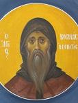 Άγιος Κοσμάς ο Μελωδός επίσκοπος Μαϊουμά - Ι. Ν. Οσίων Παρθενίου και Ευμενίου των εν Κουδουμά, δια χειρός Παναγιώτη Μόσχου (2006 μ.Χ.)