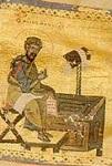 Άγιος Λουκάς ο Ευαγγελιστής (Tετραευάγγελο σε περγαμηνή) - 13ος αι. μ.Χ. - Mονή Kαρακάλλου, Άγιον Όρος