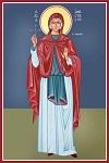 Αγία Αναστασία η  Ρωμαία - Καζακίδου Μαρία© (byzantineartkazakidou. blogspot.com)