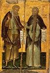 Οι άγιοι Δαβίδ και Παχώμιος - 16ος - 17ος αι μ.Χ. - Mονή Διονυσίου, Άγιον Όρος