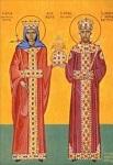 Οι άγιοι Ιωάννης Βατάτζης ο εκ Διδυμοτείχου αυτοκράτορας της Ρωμανίας και Θεοδώρα Πετραλείφα βασίλισσα της Άρτας - Διά χειρός Δέσποινας Σαρσάκη.