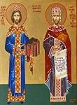 Ο Άγιος Ιωάννης Βατάτζης και ο Άγιος Κωνσταντίνος - Δια χειρός Δέσποινας Σαρσάκη
