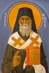 Άγιος Νεκτάριος Μητροπολίτης Πενταπόλεως Αιγύπτου - Ι. Ν. Οσίων Παρθενίου και Ευμενίου των εν Κουδουμά, δια χειρός Παναγιώτη Μόσχου (2006 μ.Χ.)