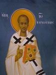 Άγιος Ιωάννης ο Χρυσόστομος - Ι. Ν. Οσίων Παρθενίου και Ευμενίου των εν Κουδουμά, δια χειρός Παναγιώτη Μόσχου (2006 μ.Χ.)
