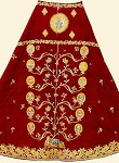 Φελόνιο με τη Pίζα Iεσσαί - τέλη 18ου - αρχές 19ου αι. μ.Χ. - Mονή Ξηροποτάμου, Άγιον Όρος