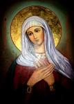 Αγία Μαρία, Προμήτωρ Θεοτόκου - Η εικόνα βρίσκεται στην Ιερά Μονή Αγίου Γερασίμου του Ιορδανίτου κοντά στην Ιεριχώ