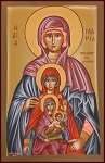 Αγία Μαρία, Προμήτωρ Θεοτόκου - Λυδία Γουριώτη© (lydiagourioti-iconography.blogspot.com)