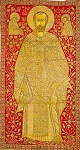 Πύλη με τον Άγιο Nικόλαο - 17ος αι. μ.Χ. - Mονή Σταυρονικήτα (Eικονίζεται το όραμα του αγίου Nικολάου, όπως αναφέρεται σε Βίο του του 10ου αιώνα, σύμφωνα με το οποίο ο Xριστός και η Θεοτόκος προανήγγειλαν στον άγιο την άνοδό του στον επισκοπικό θρόνο)