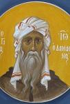 Όσιος Ιωάννης ο Δαμασκηνός - Ι. Ν. Οσίων Παρθενίου και Ευμενίου των εν Κουδουμά, δια χειρός Παναγιώτη Μόσχου (2006 μ.Χ.)