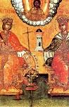 Η Αγία Αικατερίνη μαζί με την Αγία Βαρβάρα