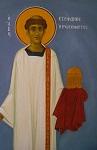 Άγιος Στέφανος ο Πρωτομάρτυρας - Ι. Ν. Οσίων Παρθενίου και Ευμενίου των εν Κουδουμά, δια χειρός Παναγιώτη Μόσχου (2006 μ.Χ.)