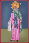 Άγιος Σάββας ο Ηγιασμένος - Καζακίδου Μαρία© (byzantineartkazakidou. blogspot.com)