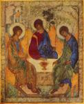 Άγιος Αντρέας Ρουμπλιόβ ο Εικονογράφος - Η φιλοξενία του Αβραάμ