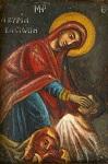 Σταγόνα (κυτίον εισφορών) της Ιεράς Μονής με την οποία οι μοναχές ζητούσαν την εισφορά των χριστιανών. Εικονίζει το θαύμα της Κασσωπίτρας (19ος αιώνας μ.Χ.)