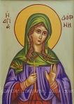 Αγία Δάφνη (Dymphna)- Λυδία Γουριώτη© (http://lydiagourioti-iconography.blogspot.com)
