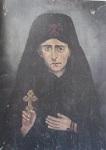 Φωτογραφία από την κουρά του Αγίου Νικηφόρου του Λεπρού (ρετουσαρισμένη από Λεπρό αγιογράφο τρόφιμο του Λεπροκομείου της Χίου)