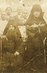 Ο Όσιος Νικηφόρος με τον Όσιο Άνθιμο και τροφίμους του Λωβοκομείου Χίου