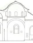 Τομή ναού Παναγιάς Βατούσαινας