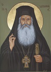 Όσιος Ιάκωβος (Τσαλίκης), ο Θεοφόρος, καθηγούμενος της Ιεράς Μονής Οσίου Δαυΐδ του εν Ευβοία - Λυδία Γουριώτη© (http://lydiagourioti-iconography.blogspot.com)