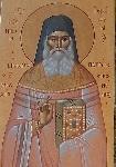 Όσιος Ιερώνυμος ο Σιμωνοπετρίτης - Τοιχογραφία στον Ιερό Ναό της Αναλήψεως