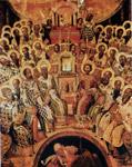 Μεταβυζαντινή εικόνα με θεολογική αναπαράσταση της Α΄ Οικουμενικής Συνόδου (Μιχαήλ Δαμασκηνός, 1591, Μουσείο Αγίας Αικατερίνης Σιναϊτών, Ηράκλειο Κρήτης)