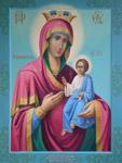 Η Παναγία Αρβανίτισσα<br />αγιογραφηθείσα το<br />2008 μ.Χ. από την Μονή<br />Κουτλουμουσίου Αγίου<br />Όρους με διακόσμηση