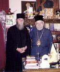 Ο π. Νεκτάριος με τον<br />μητροπολίτη Χίου κ.κ. Διονύσιο
