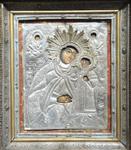 Η θαυματουργός εικόνα της Υπεραγίας Θεοτόκου με την προσθήκη του ασημένιου «πουκάμισου»