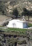 Το εκκλησάκι της Οσίας Μελούς από τα ανατολικά, τη θέση Κοκκινόνερο