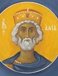 Προφήτης Δαβίδ - Ι. Ν. Οσίων Παρθενίου και Ευμενίου των εν Κουδουμά, δια χειρός Παναγιώτη Μόσχου (2006 μ.Χ.)