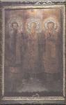 Άγιοι Τρεις Ιεράρχες (Ο Βασίλειος αριστερά, ο Χρυσόστομος δεξιά, στο κέντρο ο Γρηγόριος)- Φανάρι, Κωνσταντινούπολη