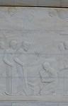 Το έργο αυτό απεικονίζει την εύρεση της Θαυματουργού εικόνας της Παναγίας από Φαλατιανούς, Ιερός Ναός Αγίας Τριάδος - Αγίου Ιωάννη, Φαλατάδος - Τήνος