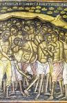 Το μαρτύριο των Αγίων Μεγαλομαρτύρων Τεσσαράκοντα. Τοιχογραφία του 15ου αιώνα στο Καθολικό της Ι. Μ. Διονυσίου του Αγίου Όρους