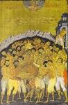 Φορητή εικόνα των Αγίων Τεσσαράκοντα του 16ου αιώνα μ.Χ. Φυλάσσεται στο εικονοφυλάκιο της Ι. Μ. Παντοκράτορος του Αγίου Όρους και αποδίδεται στον Θεοφάνη