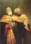 «Ο απαγχονισμός του Πατριάρχη Γρηγορίου Ε΄», πίνακας του Νικηφόρου Λύτρα