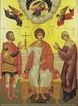 Άγιος Μεγαλομάρτυς Γεώργιος Τροπαιοφόρος μετά των γονέων του