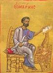 Άγιος Μάρκος ο Απόστολος και Ευαγγελιστής (Tετραευάγγελο) - β' μισό 12ου αι. μ.Χ. - Mονή Διονυσίου, Άγιον Όρος