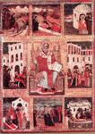 Ο Άγιος Δονάτος και σκηνές του βίου του - 18ος αιώνας μ.Χ., έργο Κων/νου Κόνταρη, Βυζαντινό Μουσείο, Αθήνα