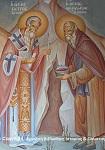Άγιος Πέτρος Επίσκοπος Άργους και Όσιος Θεοδόσιος ο Νέος - Η Συνάντησις