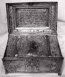 Θήκη με τα Ιερά Λείψανα του Αγίου Οικουμένιου του Θαυματουργού επισκόπου Τρίκκης